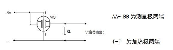 六,可燃气烟雾传感器mq-k2测试电路